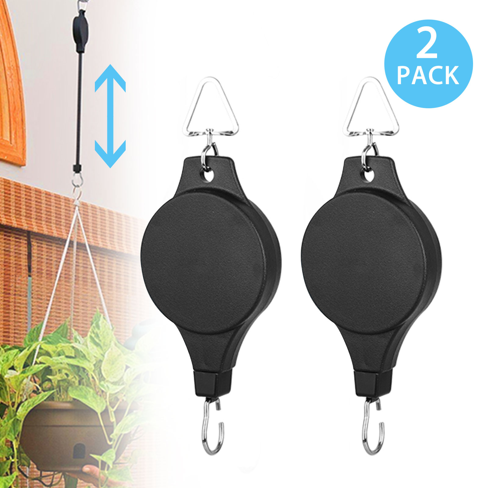 20-pack Plastic Greenhouse Hanging Hooks Flower Hangers Garden Accessories