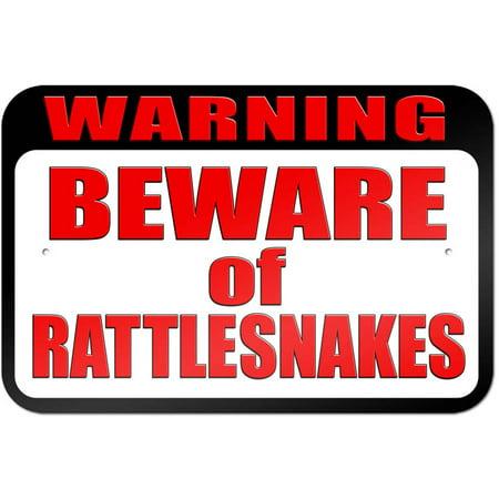 Moose Warning Sign - Warning Beware of Rattlesnakes Sign