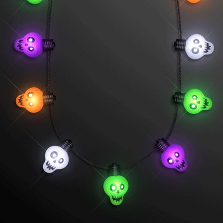 Halloween Zombie Skulls String Lights Necklace