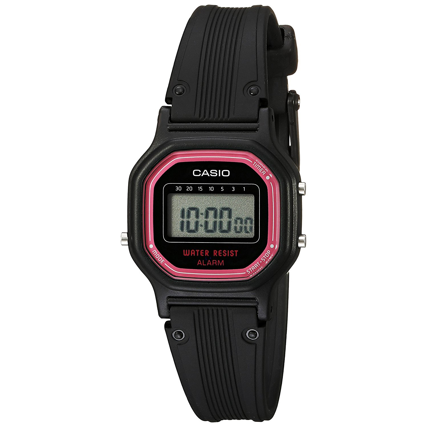 Casio LA11WB-4CR Women's Classic WaterResistant Daily Alarm Digital Watch