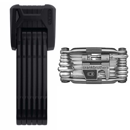 Abus Bordo Granit X Plus 6500/85cm Folding Bike Lock and Crank Brothers M19