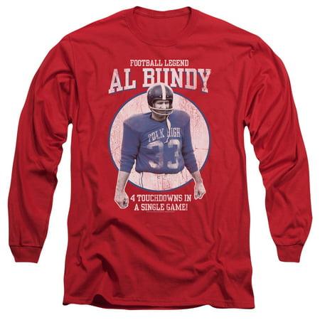 Long Sleeve: Married With Children- Al Byndy Football Legend Longsleeve Shirt Size XXL](Kids Football Suits)