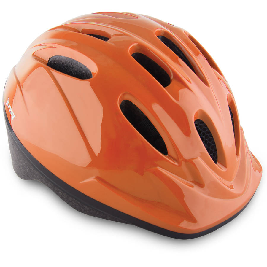 Joovy Noodle Kids Bicycle Helmet with Vented Air Mesh and Visor, Orangie