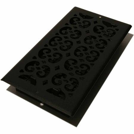Decor Grates Scroll Floor/Wall Register, Black, 6