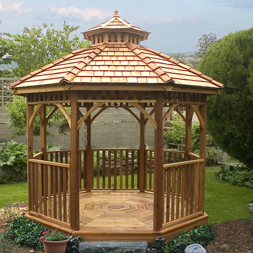 Outdoor Living Today Bayside 10 Ft. W x 10 Ft. D Wood Permanent Gazebo