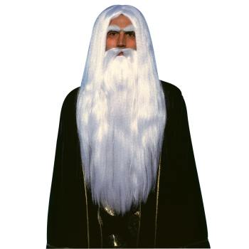 WIG-MERLIN WIG AND BEARD SET