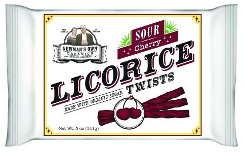 Newman's Own Organics Licorice Twists, Sour Cherry, 5 Ounce Packages by NEWMAN'S OWN