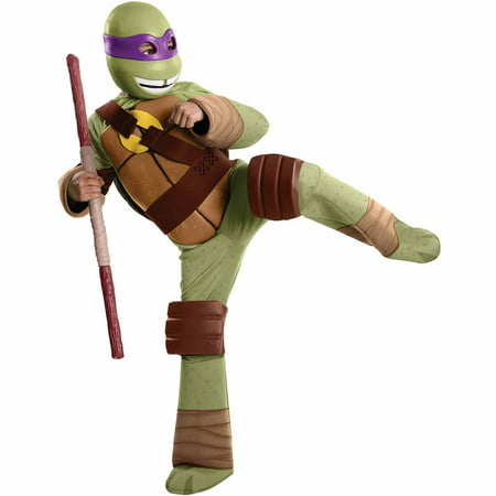 Teenage Mutant Ninja Turtles Donatello Deluxe Child Halloween Costume (Best Ninja Costume Ever)