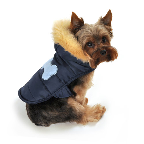 SimplyDog Puffer Bone Dog Jacket, Navy