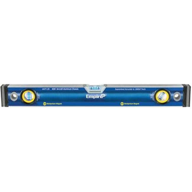 Empire Level 272-em71. 24 24 Inch True Blue Magnetic Box Level W-Neodymium Mag