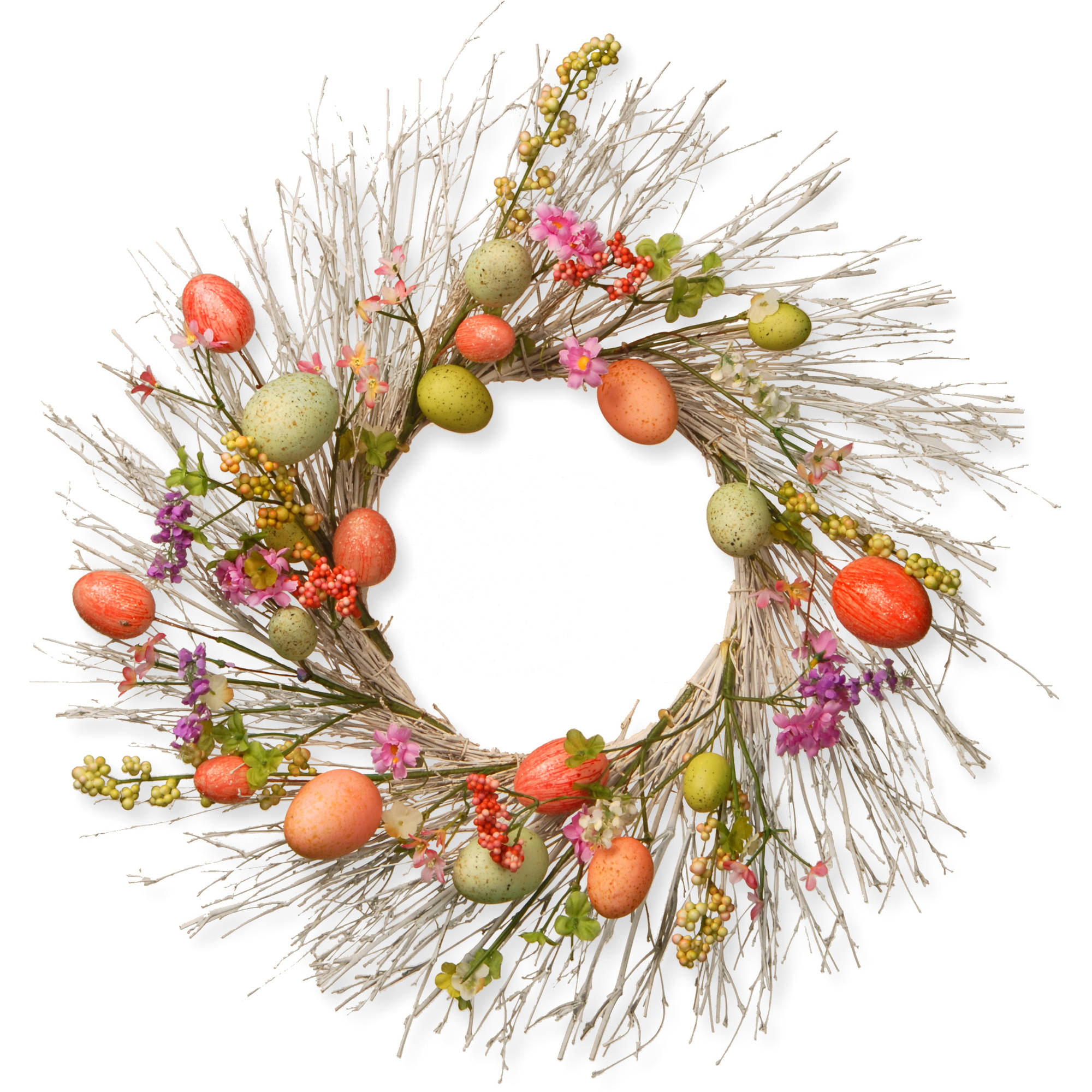 """National Tree Artificial 24"""" Easter Egg Wreath"""