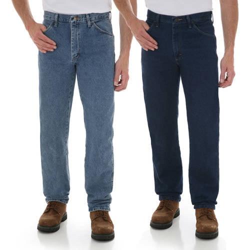 Rustler - Mens Regular Fit Straight-Leg Jeans, 2 Pack