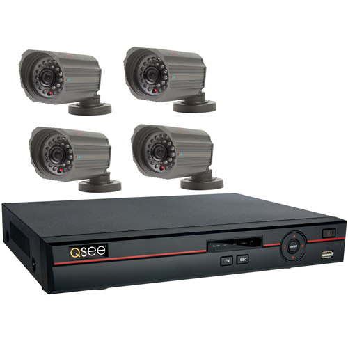 Q-See 8 Channel H.264 CIF/D1 Network DVR, 4 Indoor/Outdoor Cameras with 420 TVL and 500GB HDD