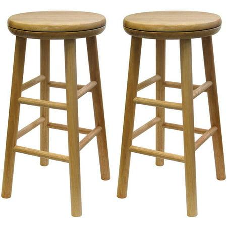 Wood Swivel Seat Kitchen Stool 25 Quot Set Of 2 Beechwood