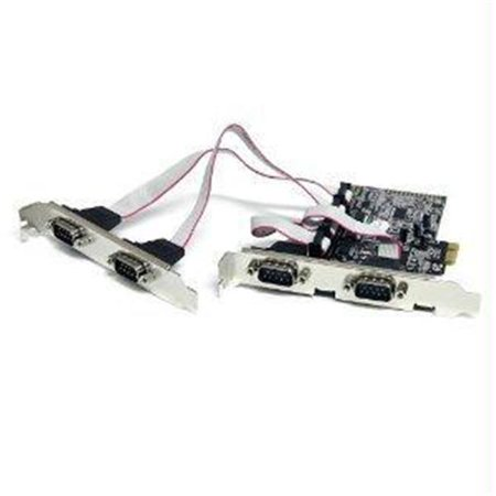 STARTECH  4 PORT NATIVE PCI EXPRESS RS232 SERIAL ADAPTER CARD WITH 16550