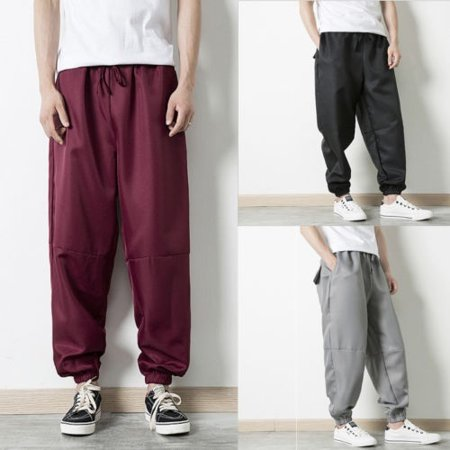 New Mens Casual Tracksuit Jogging Joggers Sweat Pants Trousers Hip-Hop