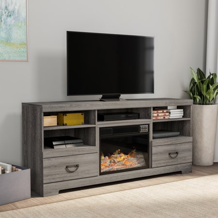Electric Fireplace Tv Console For Tvs Up To 65 Media Shelves