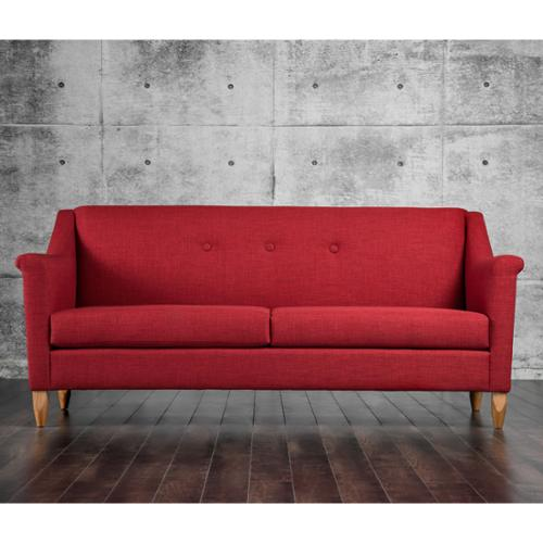 Furniture Of America Winslow Modern Mid Century Tufted Sofa Red