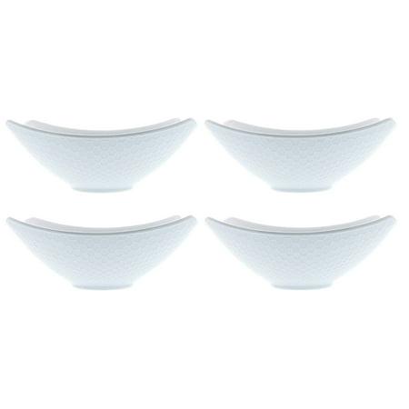 Over and Back Honeycomb Porcelain Serving Bowls - Set of 4 - Walmart.com