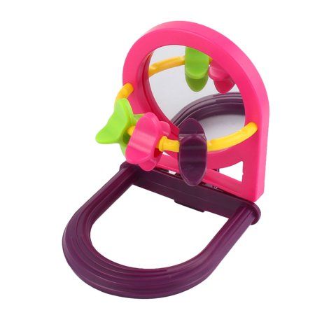 Pet Parrot Bird Plastic Wheel Hanging Stand Toy Birdcage Decoration Colorful