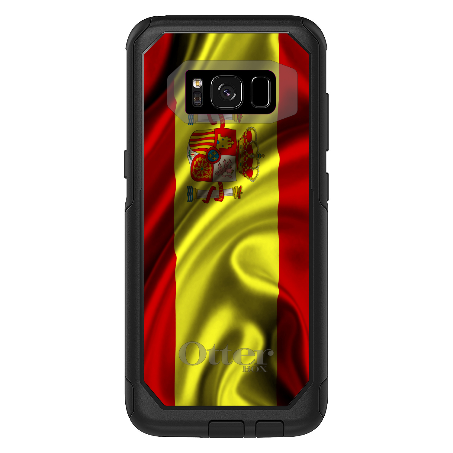 DistinctInk Custom Black OtterBox Commuter Series Case for Samsung Galaxy S8+...