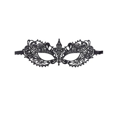 Women's Halloween Goddess Lace Masquerade Mask, Black (Masquerade Masks On A Stick Wholesale)
