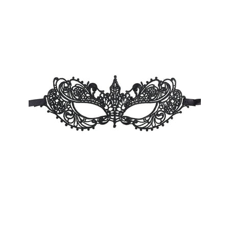 Women's Halloween Goddess Lace Masquerade Mask, Black - Halloween Mask Woman