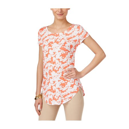 Alfani Womens Geometric Basic T-Shirt abstrcsilhcrl PS - Petite - image 1 de 1