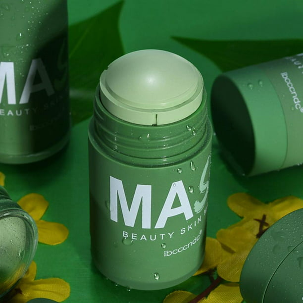 Green Tea Mask Stick, Deep Cleansing Smearing Clay Mask, Removing Blackhead Balancing Oil And Water, Moisturizing Nourishing Skin, 40g
