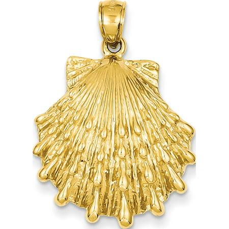 14k Patte de jaune d'or Lion Shell (22x32mm) Pendentif / Breloque - image 1 de 1