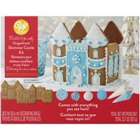 Wilton Build it Yourself Shimmer and Sparkle Gingerbread Castle Decorating Kit