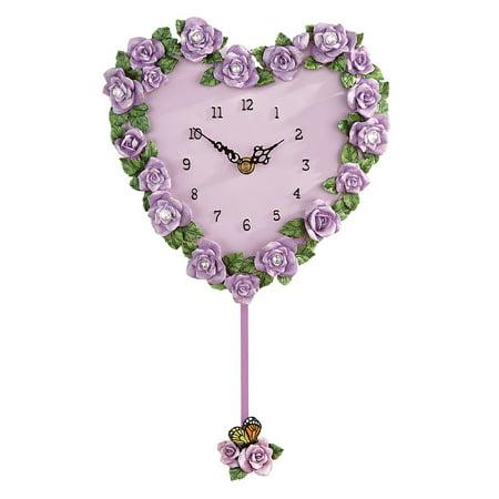Lavender Rose Heart Wall Clock](Game Of Thrones Cloak)