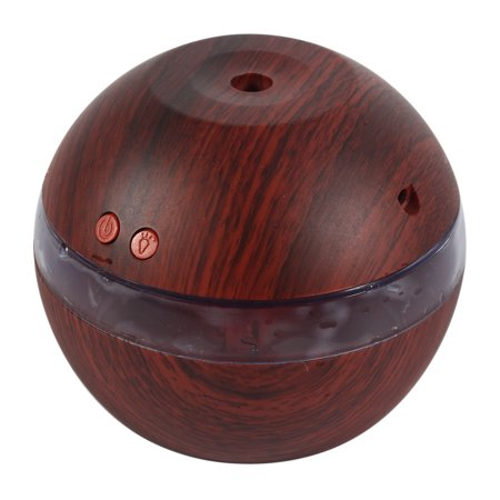 Usb Essential Oil Diffuser 200Ml Portable Mini Ultrasonic Cool Mist Aroma Diffuser Humidifier Wood Grain For Office Car Home Bedroom