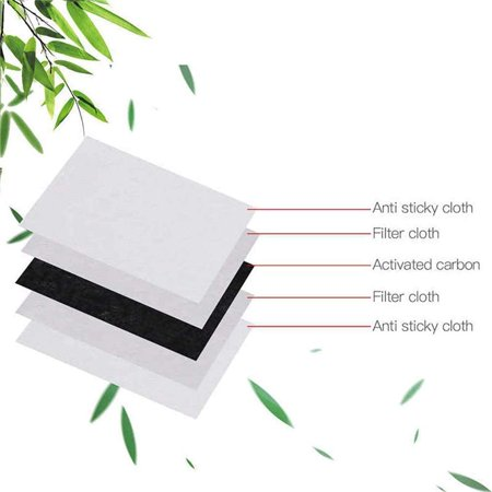 Mask filter PM2.5 filter 5-layer protective filter activated carbon mask filter 50pcs - image 7 of 7