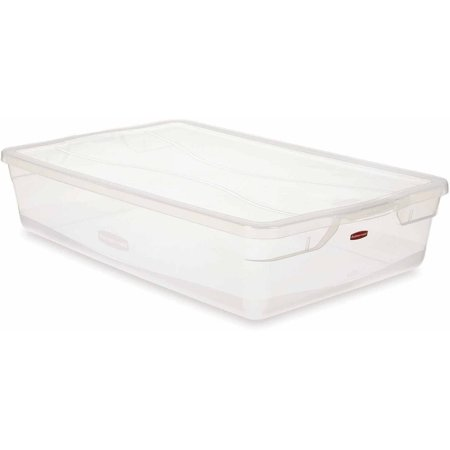 Rubbermaid Clever Store Clears Storage Container  41 Qt   Non Latching Lid  Clear