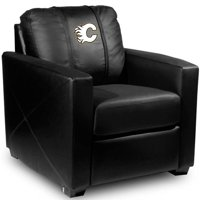 40 x 48 x 55 in. Calgary Flames NHL Silver Chair - Black