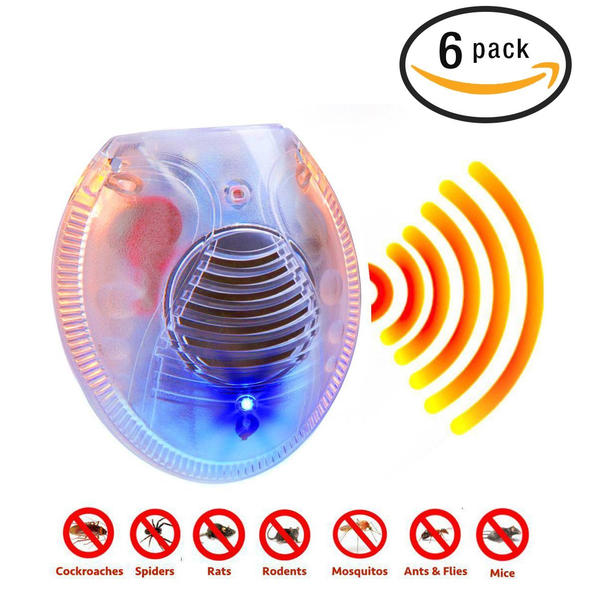 Electronic Ultrasonic Pest Control Repeller Indoor Cockro...