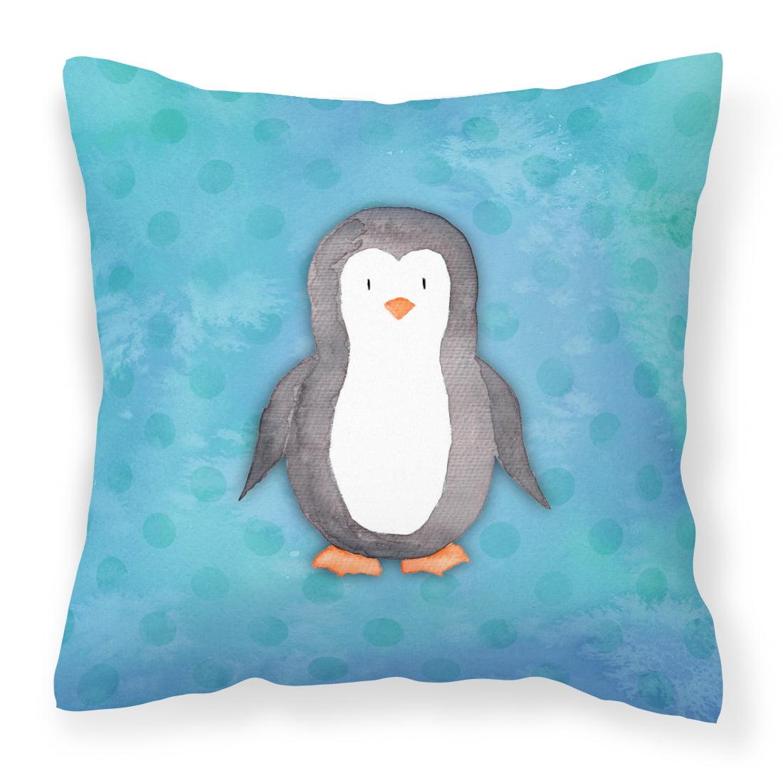 Polkadot Penguin Watercolor Fabric Decorative Pillow BB7376PW1818
