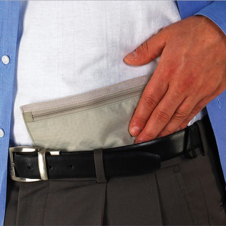Lewis N Clark Hidden Travel Wallet Belt Money Pouch Security Safe Holder Id New