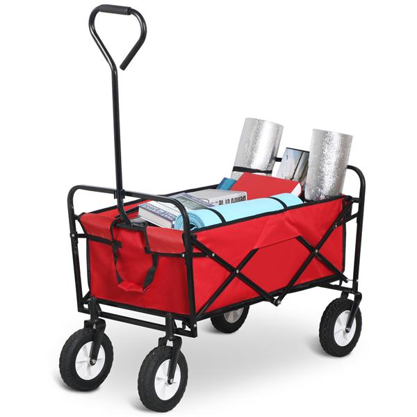 Yaheetech Trail All-Terrain Wagon Travel Camping Cart, Red