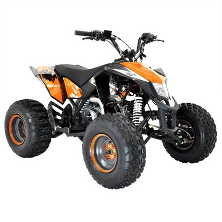 T4B MADMAX JUNIOR ATV 125cc KIDS Dirt Quad Recreational Outdoors, Off-Road, All Terrain, 4 stroke, single-cylinder, air-cooled - Orange - image 5 de 7