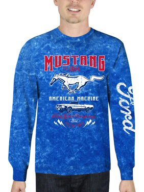 68121363a2 Product Image Ford Mustang Men's Long Sleeve Mineral Wash Graphic T-Shirt,  up to Size 3XL