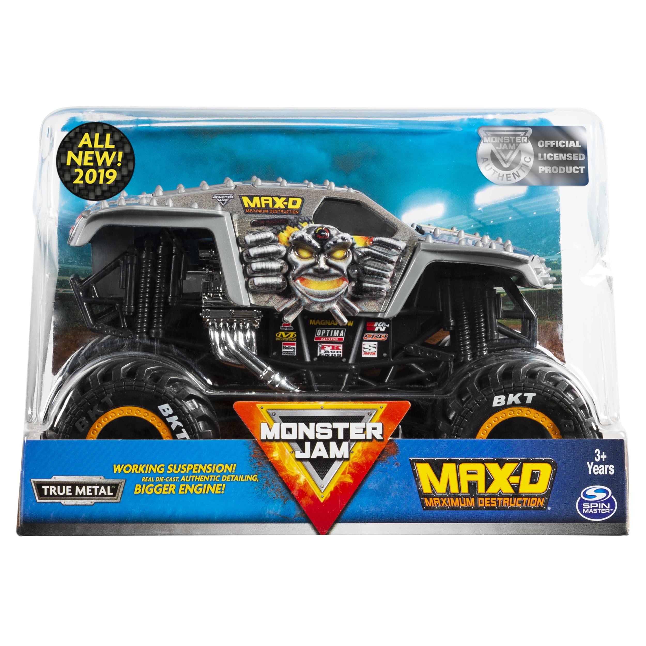 Monster Jam Official Max D Monster Truck Die Cast Vehicle 1 24 Scale Walmart Com Walmart Com
