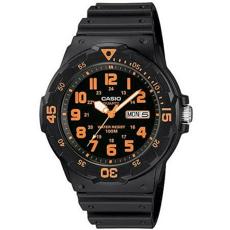 Men's Sport Analog Orange-Accented Dive Watch ()