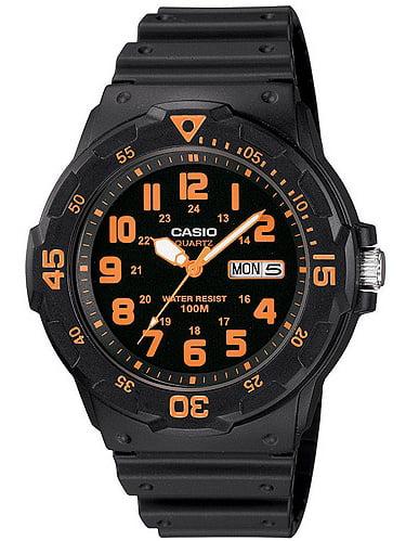 Casio Men's Sport Analog Orange-Accented Dive Watch
