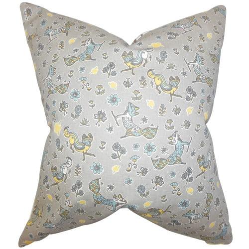 The Pillow Collection Laras Floral Cotton Throw Pillow
