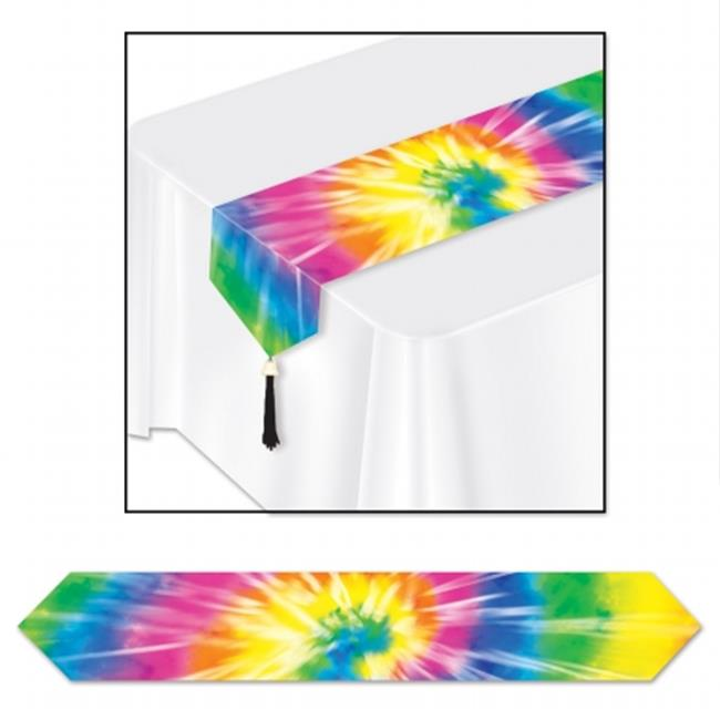 Beistle Company 59847 Printed Tie-Dyed Table Runner