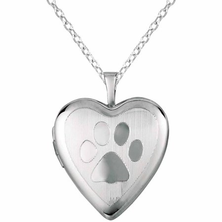 ip silver walmart shaped sterling lockets print heart com with paw locket