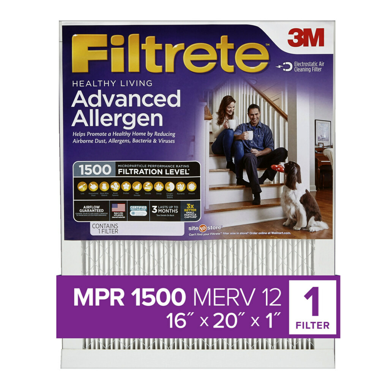 16x20x1 Air Filter 6-Pack Crisp Filters MPR 600 AC Furnace Air Filter MERV 8