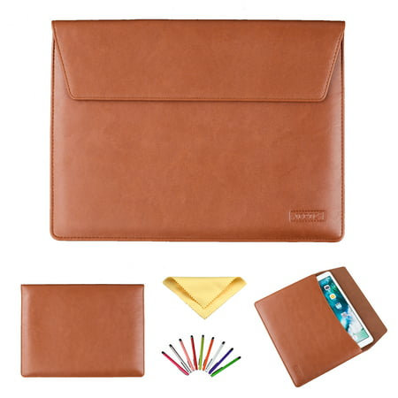 Soft PU Leather Sleeve Case Bag For 13 - 13.3 Inch Laptop/ Notebook/ MacBook/ Ultrabook/ Chromebook Computers (Apple/ Acer/ Asus/ Dell/ Fujitsu/ Lenovo/ HP/ Samsung/ Sony/ Toshiba etc), Brown